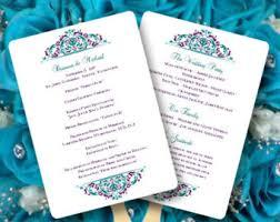 peacock wedding programs peacock program etsy