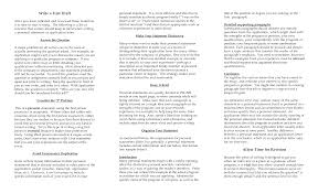 Sample Of A Perfect Resume by Personal Statement For Cv