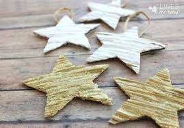 textured star ornaments lines across