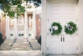 Wedding Wreaths Libby U0026 Kevin Preppy Wedding With Black And Green Details