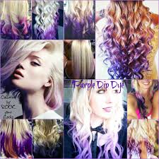 blonde hair with purple tips collated by rock your locks http