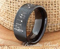 tungsten wedding band favorite song personalized