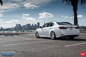 lexus white pearl white pearl lexus gs rolling on vossen wheels u2014 carid com gallery