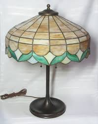Arts And Crafts Desk Lamp Lamb Bros U0026 Green Arts And Crafts Leaded Design Excellent Quality