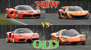 mclaren vs top gear laferrari vs enzo vs mclaren p1 vs mclaren f1