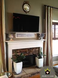 High Mount Tv Wall Living Room 17 Best Images About Tv Over Fireplace On Pinterest Wall Mount