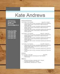 Resume Templates Free Download For Microsoft Word Cv Writing Word Document