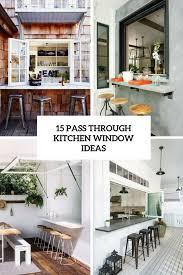 white oak wood bright raised door kitchen pass through ideas sink