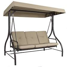 Outdoor Hammock With Stand Outdoor 3 Person Patio Porch Swing Hammock Bench Canopy Loveseat