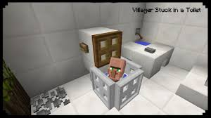 Minecraft How To Make A Furniture by Minecraft How To Make A Villager Stuck In A Toilet Youtube