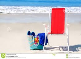 flip flop chairs chair and bag with flip flops by the stock image