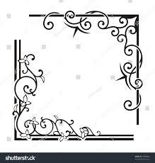 exquisite corner ornamental designs stock vector 75890686
