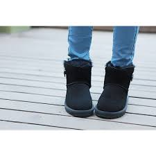 womens ugg boots bailey button sale s mini bailey button genuine leather black boots ivg 3352