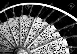 black and white spiral stairs stock photo picture and royalty
