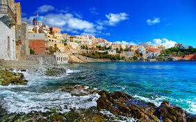 greek islands series syros full hd wallpaper and background