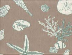 Sea Shell Curtains Seashell Fabric Coral Seahorse Tan Beige From Brick House Fabric
