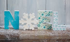 Paper Mache Christmas Crafts - how to decorate noel mache letters hobbycraft blog