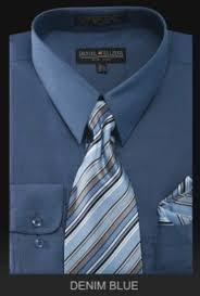 men u0027s dress shirt premium tie denim blue