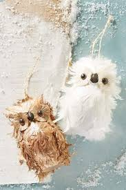 feather owl ornaments great for scaring away birds from building