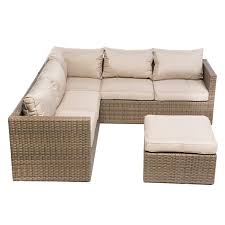 Alfresco Home Outdoor Furniture by Alfresco Home La Palma All Weather Wicker Sectional Set Hayneedle