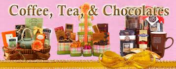 coffee and tea gift baskets coffee tea and chocolate gift baskets