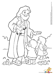 jesus and children coloring page coloring pages online