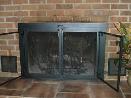 Ideas Fireplace Doors Exclusive Design Fireplace Doors And Screens Interesting Ideas