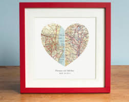 wedding gift anniversary adventure together map mountain personalized wedding gift