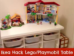 Children S Lego Table Ikea Hack Table Lego Playmobil Ikea Hack Playmobil And Lego
