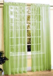 Green Sheer Curtains New 2 Pc Sheer Voile Window Curtain Panel Set
