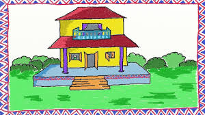 Simpel House by Drawing A Simple House How To Draw A House Drawing For Kids