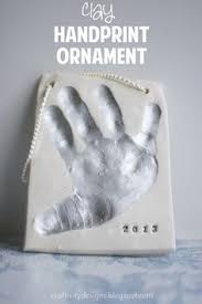 how to make clay handprints of your children s at home using