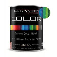 Custom Paint Color Projector Screen Paint Custom Color Match With 1 2 Gain Hd