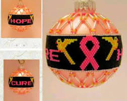 breast cancer ornament etsy