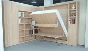Sliding Bookcase Murphy Bed Maximize Your Narrow Bedroom With King Size Murphy Bed Bedroomi Net