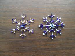 free beading pattern beaded wire snowflakes featured in sova