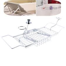 online get cheap metal shower caddy aliexpress com alibaba group 1pcs shower caddy shelf storage chrome bath tub overback wine rack extension hot hong kong