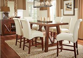 rooms to go dinner table picture of mango burnished walnut 5 pc counter height dining room