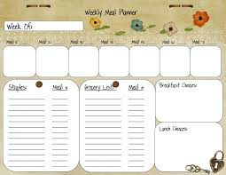 weekly menu templates free weekly meal planner template from palmettos and pigtails