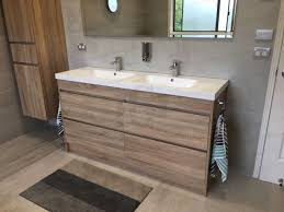 moda 1500mm white oak timber wood grain floorstanding