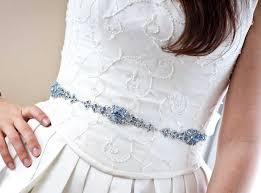 sophia vintage style rhinestone bridal belt sapphire light