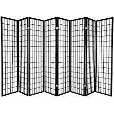 shop oriental furniture window pane 8 panel black paper folding