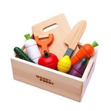 accessoires cuisine enfant en bois magnétique légumes cuisine de coupe accessoires de cuisine