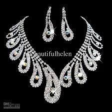 wedding jewelry wholesale fashion bridal jewelry set artificial diamond bridal