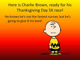 brown s thanksgiving day race a piecewise story ppt