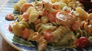 easy peasy grilled shrimp pasta salad food2fork