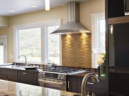 Contemporary Kitchen Backsplash by Home Design Interesting Backsplash Behind Stove With Range Hood