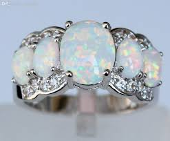 fire opal rings images Wholesale white fire opal rings new fashion jewelry for women jpg