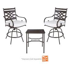 High Patio Dining Sets Hampton Bay Middletown 3 Piece Motion High Patio Dining Set With