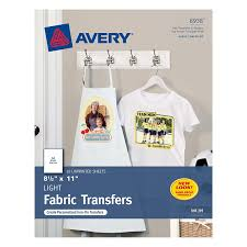 Print On Aprons Amazon Com Avery T Shirt Transfers For Inkjet Printers For Light